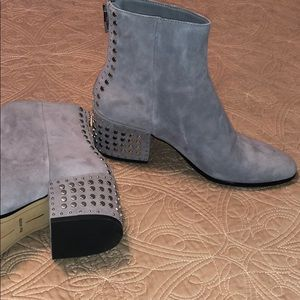 Dolce Vita Gray studded booties